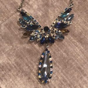 Austrian Crystal Butterfly Necklace NWTS